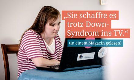 """Carina Kühne: """"Ich möchte mehr Menschen mit Behinderungen im Fernsehen sehen und selbst gerne mehr Rollen spielen."""""""