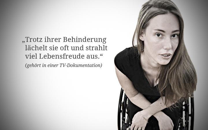 Über Behinderung lachen.