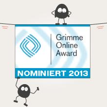 Logo von der Nominierung beim Grimme Online Award
