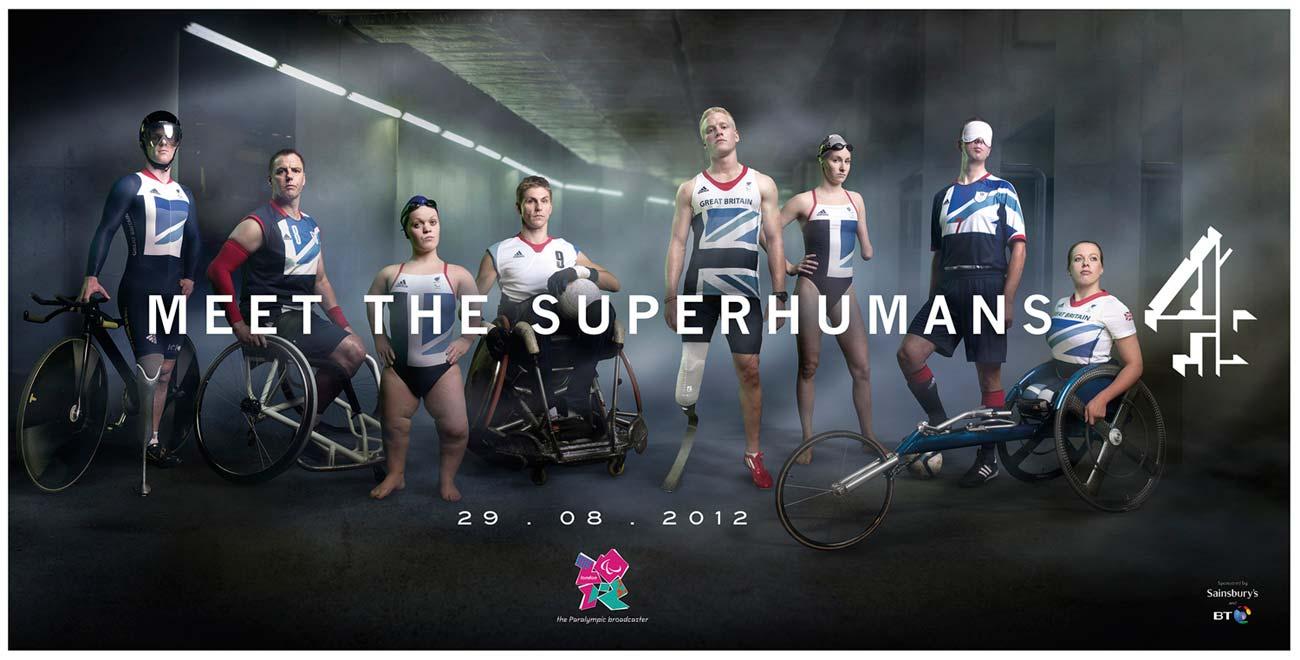"""Bild aus der anzeigenkampagne vom Channel 4 """"Meet the superhumans"""""""