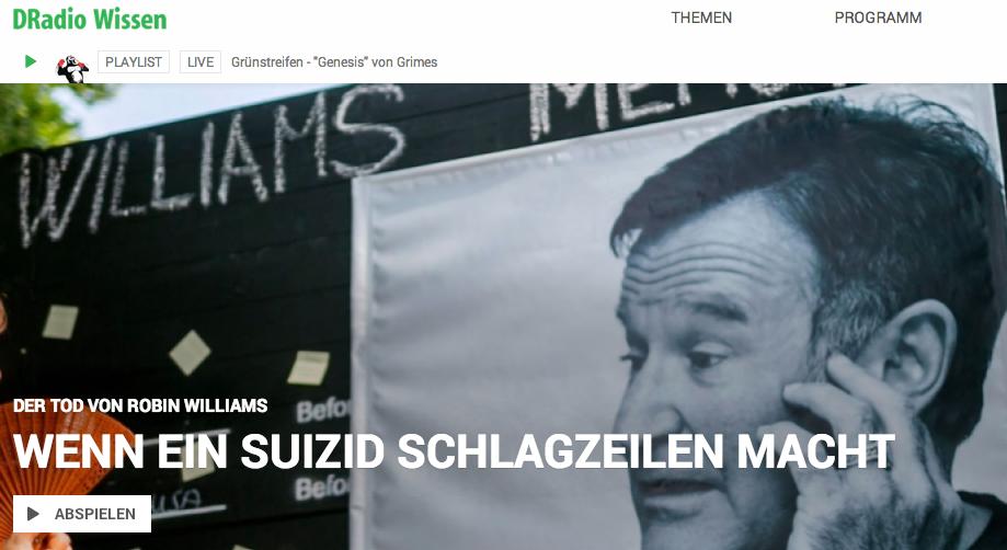 """""""Medien über Suizid – Meinungen im Netz #RobinWilliams"""" (Triggerwarnung)"""