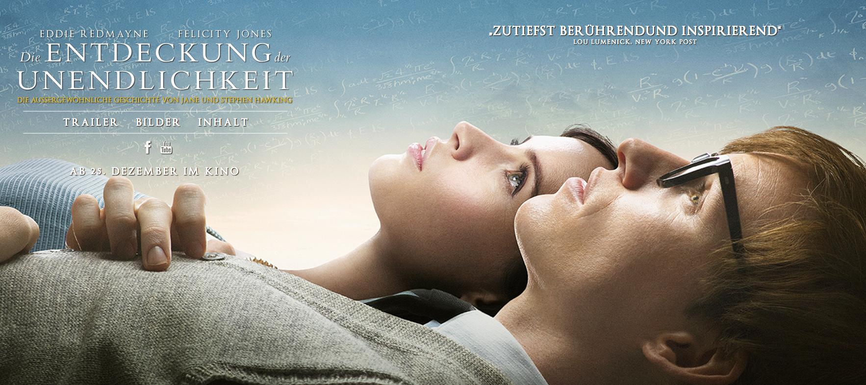 """Was die Liebe aushält – Filmkritik zu """"Die Entdeckung der Unendlichkeit"""""""