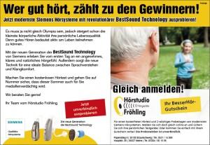 """Werbung von http://hoerstudio-froehling.de. Im Titel: """"Wer gut hört, zählt zu den Gewinnern!"""""""