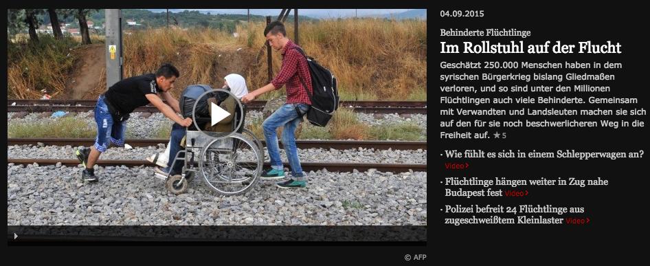 Behindert auf der Flucht