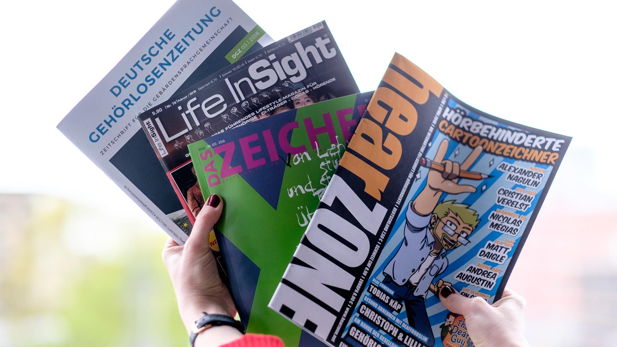 Magazine für gehörlose Menschen