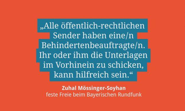 Zuhal Mössinger-Soyhan, feste Freie beim BR