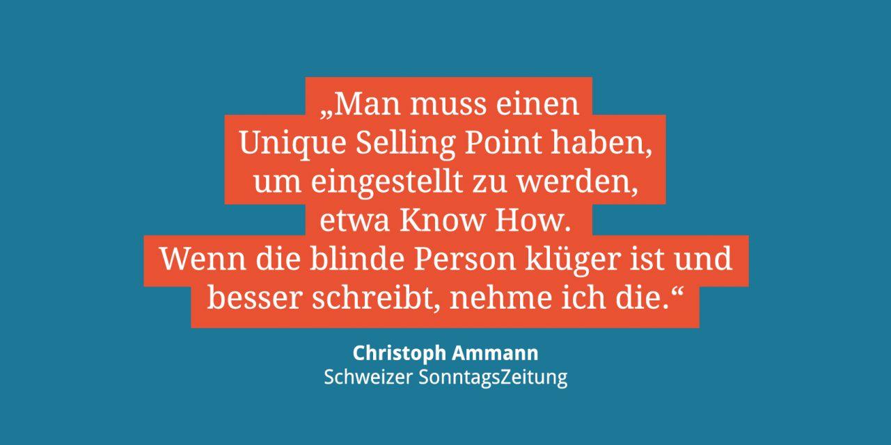 Christoph Ammann, Redakteur der Schweizer SonntagsZeitung