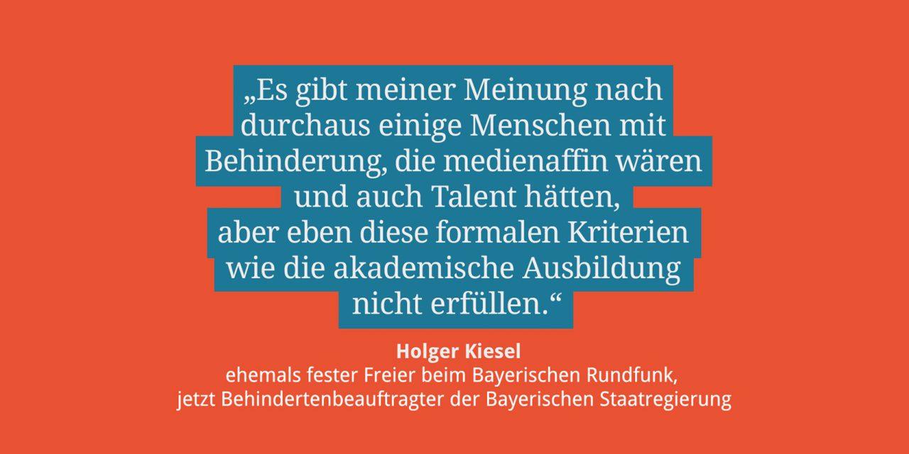 Holger Kiesel, ehemaliger fester Freier beim BR