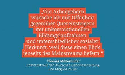 Thomas Mitterhuber, Chefredakteur der Deutschen Gehörlosenzeitung