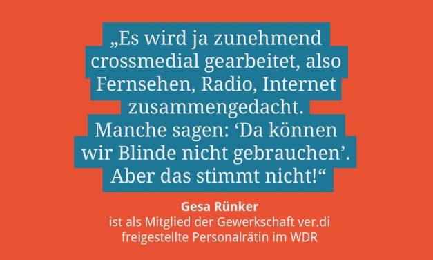 Gesa Rünker, stellv. Vorsitzende ver.di/WDR