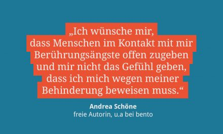 Andrea Schöne, freie Autorin u.a. für ze.tt
