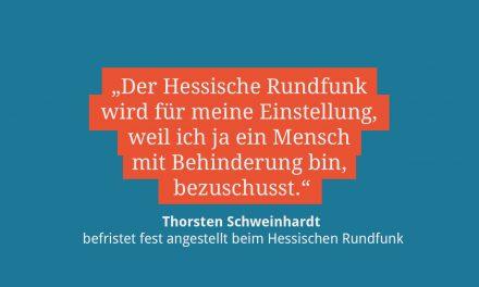 Thorsten Schweinhardt, befristet fest angestellt beim HR