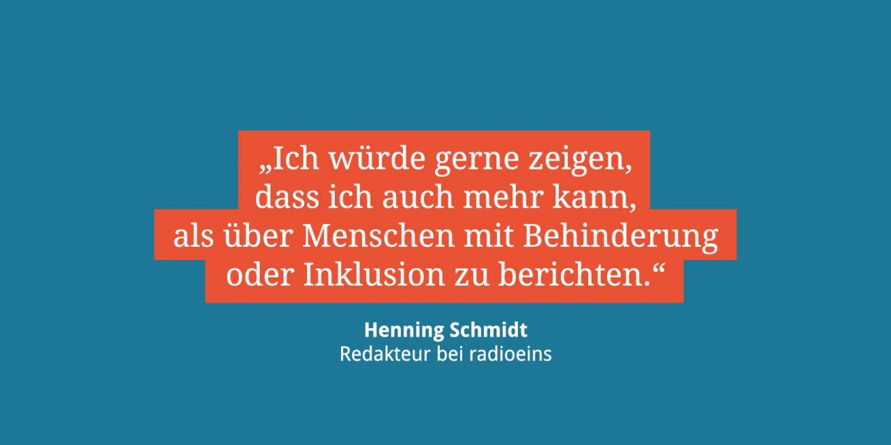 Henning Schmidt, Redakteur bei radioeins