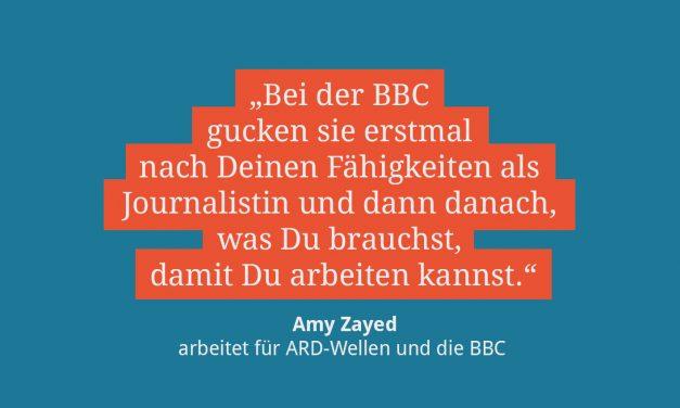 Amy Zayed, Radiojournalistin für ARD und BBC
